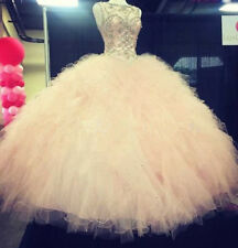 New Quinceanera Dresses Beaded Prom Ball Gown Wedding Pageant Dress Custom Size
