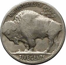 1926 BUFFALO NICKEL 5 Cents of United States of America USA Antique Coin i43675