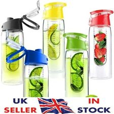 Fruit infuser Water Bottle | 7 COLOURS | FLIP LID | water infusing | INFUSION