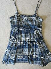 WOMEN'S AMERICAN EAGLE OUTFITTERS AEO BLUE BOHEMIAN FLOWY COMFY DRESS SIZE LARGE