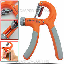10 - 40Kg Adjustable Hand Wrist Power Grip Gripper Exerciser Forearm Strength UK