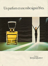 Publicité Advertising 1981 Parfum  Y  de  YVES SAINT LAURENT  YSL