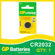 GP Lithium Button Battery CR2032 (DL2032) card of 1 [WATCH & CALCULATOR + OTHER]