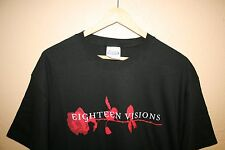 NEW 18 EIGHTEEN VISIONS Obsession T-Shirt XL Trustkill Records Band RARE Tour