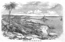 SRI LANKA View at Trincomalee - Antique Print 1858