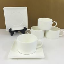 NEW! Set of 4 WEDGWOOD ASHLAR Cups & Saucers VERY EXQUISITE