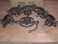 6 Duke #3 Coil Spring Traps  Beaver Fox Bobcat Coyote Wolf Trapping