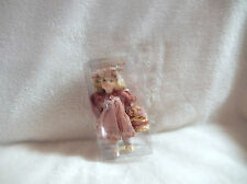 CHRISTMAS5'' ROMANCE 5''IN PORCELAIN MAUVE/PINK DRESS DOLL ORNAMENT-NEW (1 ONLY)