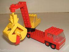 Lego 689 Vintage Truck & Grabber Shovel - Rare Legoland 1974 Set Complete