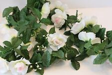 ROSE GARLAND~  Artificial fake Flower Ivy Vine Hanging Home Wedding Decor