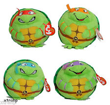 Set Of 4 Teenage Mutant Ninja Turtle Beanie Ballz Plush Toy TMNT