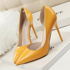 12 Colour Classic Women's Ladies High Heeled Pointed-toe Stiletto Shoes Pumps PU