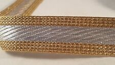 3cm- 1 meter high quality Gold and silver ribbon lace trim for crafts decor DIY