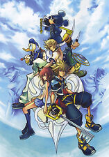 "Kingdom Hearts Boy 1 2 Game Fabric Poster 36"" x 24"" Decor 13"