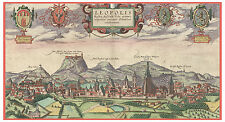 Lviv Lviv Oblast Galicia Ukraine bird's-eye view map Braun Hogenberg ca.1617