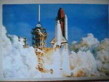 "NASA SHUTTLE ""DISCOVERY"" PHOTO BY G. NERI AUTHENTIC RARE 1980's POSTER"
