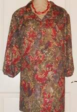 PLUS SIZE WOMENS ARTSY BLOCKED COLORED TOP SIZE 50W MAGGIE SWEET EUC