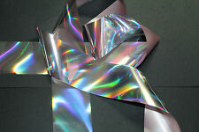 """""""Holographic silver"""" transfer nail foil - 1 meter"""