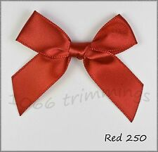 Large Satin Ribbon Bows 15mm Choice of 8 Colours & Packet Size 10, 50, 100, 500