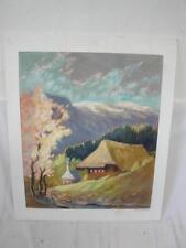 schönes Gemälde/Pastell Zipfenhof mit Feldberg signiert Konanz