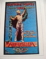 Olympic Games  1932 Los Angeles USA Official Poster Reprint 16x12 Offset Litho