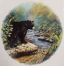 "2 Black Bear River Forest 2-5/8""  Waterslide Ceramic Decals Xx"