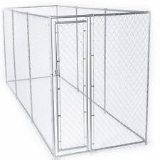 New Outdoor Galvanized Chain Link Dog Kennel Steel Frame 15' x 5' or 10' x 10'
