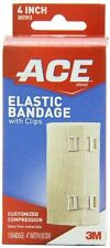ACE Elastic Bandage with Clips, 4 Inch, 1 Each