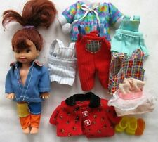 """Vintage 1994 Mattel Kelly & Friends 4"""" doll with extra Clothes Barbie"""