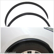 Soft Black Carbon Fiber Car Fender Wheel Eyebrow Protector Strip Anti-Scratch X2