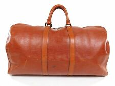 Louis Vuitton Keepall 55 Brown Epi Leather Duffle Bag Travel Vintage Tote MD193