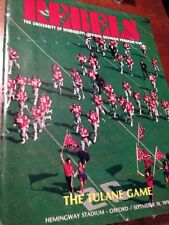 1976 OLE MISS REBELS VS TULANE  FOOTBALL PROGRAM