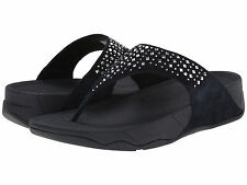 NEW Black Women's  FitFlop Fit Flop rhinestone sandals size 8 Free Shipping