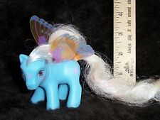 Rare Vintage 1988 G1 MY LITTLE ❀PONY Blue Butterfly GLOW SUMMER WING❀ Pink Hair