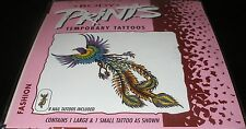 NEW FANTASY MAKERS PHOENIX BODY TEMPORARY TATTOOS & NAIL TATTOOS SET