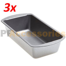 """Pack of 3 Non Stick 8.5"""" x 4.5"""" x 2.5"""" Toast Bread Cake Baking Loaf Pan Meatloaf"""