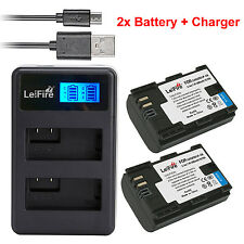 2x LP-E6  Battery + LCD DUAL Charger For Canon EOS 5D Mark II III EOS 70D 7D 60D