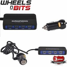 High Quality Grundig 4 Way USB Ports 9.6AMP 5 Volt 48Watts Fast Charger* 12V 24V