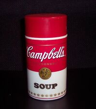 VINTAGE 1998 COLLECTIBLE CAMPBELL'S SOUP CAN-TAINER THERMOS MUG VGUC