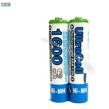 10 x AAA 1600mAh NIMH 1.2V Volt Rechargeable Battery HR03 LR03 3A Ultracell Blue