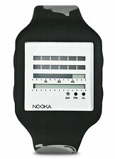 Nooka x MTV Music Black Silver Zub Zen-H 20mm Digital TDF LCD Watch New in Box