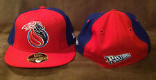 Detroit Pistons NEW ERA 59FIFTY Fitted Hat NBA Red/Blue Throwback Logo 6 3/4