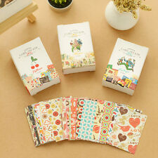 52Pcs Paper Sticker Vintage  Cherry Flower Photo Album Diary Book Scrapbook Gift