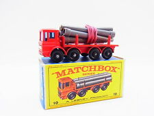 "LOT 33356 | Matchbox 10 D Pipe Truck LKW mit Röhren defekt in ""E""-Box"