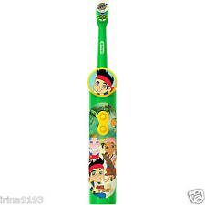 Jake and the Neverland Pirates Oral B Electric Battery Toothbrush New For Kids
