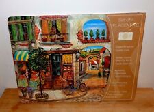 "VINTAGE Benson Mills Cork Placemats ""LITTLE ITALY "" Set of 4 Place Mats N.I.P."