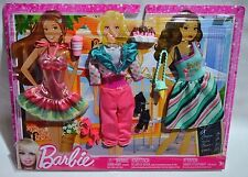 NIB-2012-BARBIE,MIDGE,SUMMER,TERESA-3 PACK FASHIONISTAS SWEET TREATS FASHIONS ++
