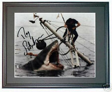 JAWS Roy Scheider signed framed shark photo