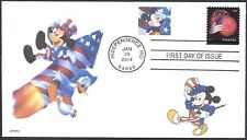 MICKEY MOUSE   DONALD DUCK    FOURTH OF JULY   ROCKET      FDC- DWc CACHET