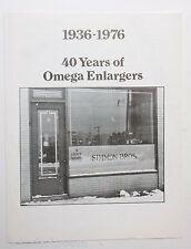 Omega 40 Years 1936-1976 Enlargers Brochure History Paper English USED B43